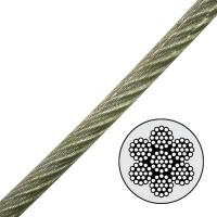 "China 7x19 1/8"" to 3/16"" Steel Aircraft Cable Galvanized , vinyl coated wire rope 2000lb WLL wholesale"