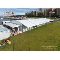 China 20 Width Arcum Tent With Eave Extension And Glass Walls For Wedding Parties wholesale