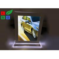 China Double Sided LED Crystal Light Box A4 A5 Format Size For Countertop Menu Display wholesale