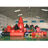 China Customized Paintball Inflatable Bunkers Quipment For Outdoor Sport Game Red wholesale