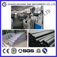 China  Large Diameter Pvc Plastic Pipe Extrusion Line Single Screw Extruder  for sale