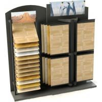 China Convenience store unique wood flooring display racks with angle shelving, page frame wholesale