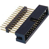 China 2.54 Pitch Box Header Connector add housing H=2.5 PA9T black  matting with 5212/2185 ROHS wholesale