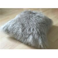 Quality Real Super Soft Plush Mongolian Sheepskin Cushion Covers Warm 16x16 Inches for sale