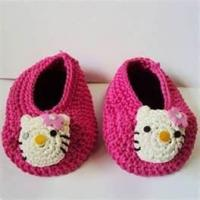 China 100% wool Warm Hand crocheted baby shoes, knitted baby products for Autumn, Winter wholesale