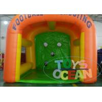 China Kick Inflatable Sport Game 0.55mm PVC Vinyl Tarpaulin Inflatable Soccer Goal wholesale