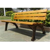 China Stable Metal / Wood Structure Decorative Outdoor Furniture Modern Outdoor Bench With Backrest Board wholesale