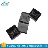 China Black Color Personalized Custom Fabric Labels For Clothes , Logo Design wholesale