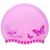 China custom design silicone swim caps wholesale