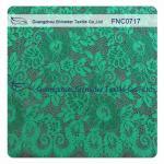 China Green Scalloped Edge Lace Fabric wholesale