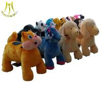 China Hansel high quality coin operated plush animal electric scooters wholesale