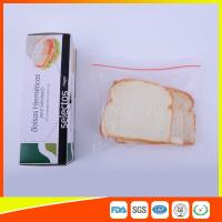 China OEM Zipper Top Plastic Sandwich Bags Biodegradable For Fresh Keeping wholesale