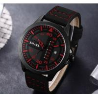 Quality Smael New Fashion Men Genuine Leather Band Waterproof 30m Date and Week Display Quartz Wrist Watch 1315 for sale