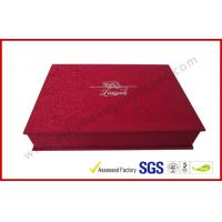 China Luxury Silk Gift Packaging Boxes Customized Silver Hot Stamping Logo wholesale