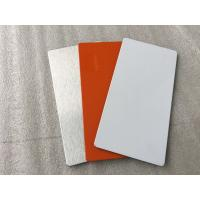 China Easy Processing Aluminum Sign Panels , Glossy / Matt White ACM Sign Material wholesale