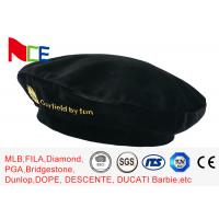 China FUN Black Mercerized Female Green Beret Hat Embroidered Velvet Beret Hat Breathable wholesale
