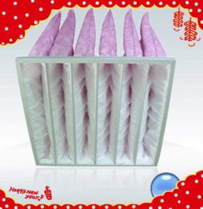 China Synthetic fiber aluminum alloy frame pocket bag air filter for AHU wholesale