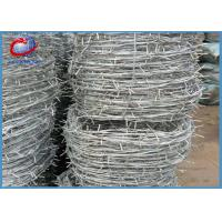 China BTO / CBT Galvanized Razor Barbed Wire For Boundary , Railway , Highway wholesale