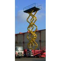 China Self - propelled manual scissor lift platform 6m 300kg with Hydraulic system wholesale