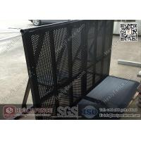 China 1.2m high Black Color Aluminum Crowd Control Barrier with Footplate wholesale