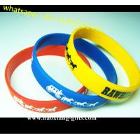 China Popular EXW custom silicone bracelets with the each name and logo wholesale