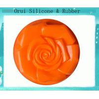 China Convenient non-toxic rose -shaped silicone cupcake mold wholesale