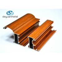 China Customized Wood Grain Aluminum Extrusion Profiles For Doors 6063-T5 / T6 wholesale
