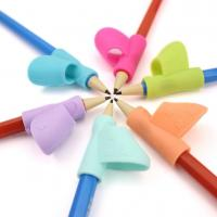 China Silicone Grip Posture Correction Tool Pen Writing Aid Pencil Holder for Chlidren on sale