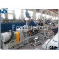 China Parallel Co Rotating Twin Screw Extruder , PVC Pipe Making Machine PLC Control wholesale