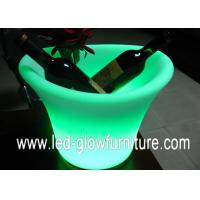 China Decorative Waterproof colour changing Ice Bucket , led flower pot With 16 Colors wholesale