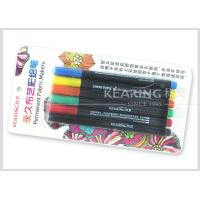 China Kearing Permanent DIY T Shirt Fabric Paint Markers  6 Assorted Color Markers With 2.0mm Nib #FM206 wholesale