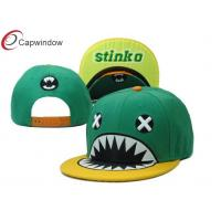 Quality Cartoon 3D Embroidery Childrens Baseball Caps With Plastic Snap Closure for sale
