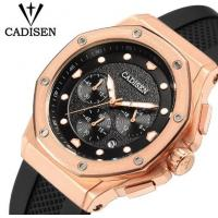 China CADISEN Men Silicone Band Multifunction Waterproof 30m Chronograph Wrist Watch Fashion Style Men Quartz Watch C9058 wholesale