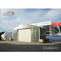 China 10m Witdh Aluminum Steel Airplane Hangars Camouflage Color PVC Fabric Steel Roll Up Door wholesale