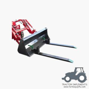 Tractor Front end loader clamp on pallet forks