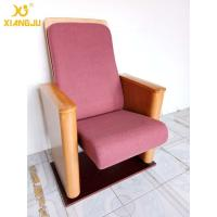 China Customized Metal Floor Mounted Polywood Stand Theater Chairs For Church Halls wholesale
