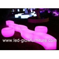 China Glow wedding and event Cube illuminated bar counter stool Built - in Lithium Battery wholesale