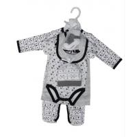 China Summer Six Piece Baby Clothes Gift Set 180G 60% Cotton 40% Polyester Interlock wholesale