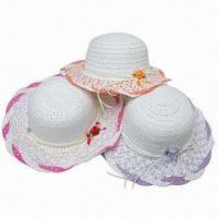 China Children's Hat , Available in Various Colors, Made of 100% Polyester wholesale