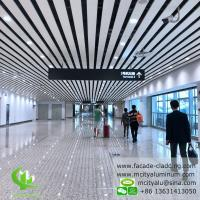 China Aluminum ceiling tile strip ceiling for interior and exterior powder coated white fireproof wholesale