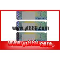 Quality Security Hot Stamping Hologram Strip Ticket for sale