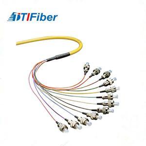 China 0.9mm Simplex Pigtail Fibra Optical LC SC FC ST Singlemode / Multimode Jumper For Couples wholesale