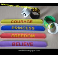 China Free samples available top quality cheap custom silicone slap bracelet wholesale