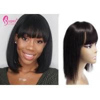 China 260 Gram Remy Lace Front Wigs , Black Bob Wig Natural Hair Color Extensions wholesale