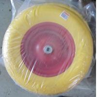 China Lauching Wheel Flat Free PU Foam Wheel 300-4 Lauching Trolley Wheel Flat Free PU Foam wholesale