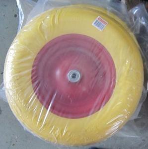 China Lauching Wheel Flat Free PU Foam Wheel 300-4 Lauching Trolley Wheel Flat Free PU Foam wholesale
