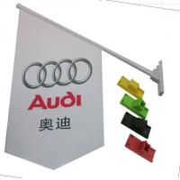 China Durable Double Sides Shop Front Flags With Bracket / Pvc Pole Full Color Printing wholesale