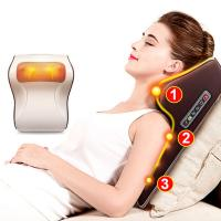 China Light Brown Electric Back Massager Gross Weight 1.5KG With 16 Massage Balls wholesale