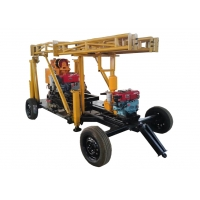 China BW160 200 Meter Rubber Trailer Mounted Drilling Rigs wholesale