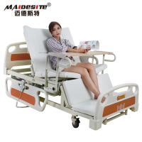 China Healthcare Back Lift And Leg Rest , Turn Over Electric Home Beds With Toilet wholesale